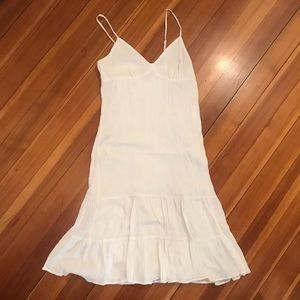 Mossimo Crinkled White Tiered Dress